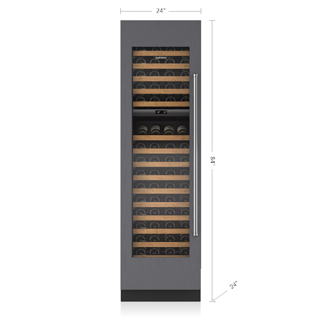 "SUB-ZERO 24"" INTEGRATED WINE STORAGE - PANEL READY IW-24"