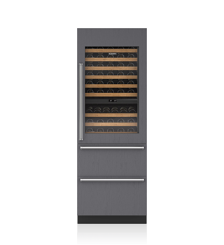 "Sub-Zero IW-30CI 30"" Designer Wine Storage with Refrigerator/Freezer Drawers - Panel Ready"