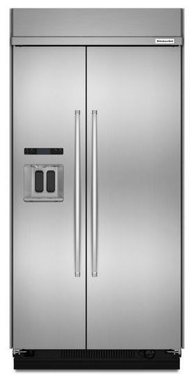 KITCHENAID KBSD608ESS 29.5 cu. ft 48-Inch Width Built-In Side by Side Refrigerator with PrintShield™ Finish