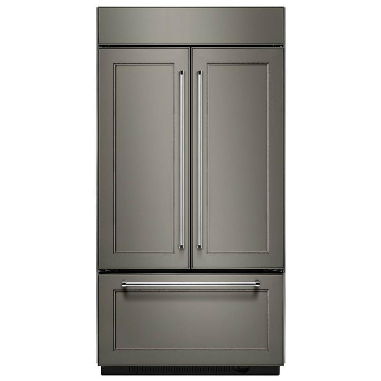 "KITCHENAID KBFN502EPA 24.2 Cu. Ft. 42"" Width Built-In Panel Ready French Door Refrigerator with Platinum Interior Design"