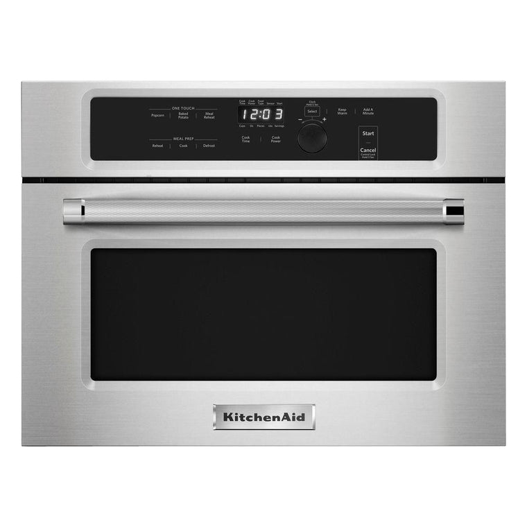 "KITCHENAID KMBS104ESS 24"" Built In Microwave Oven with 1000 Watt Cooking"