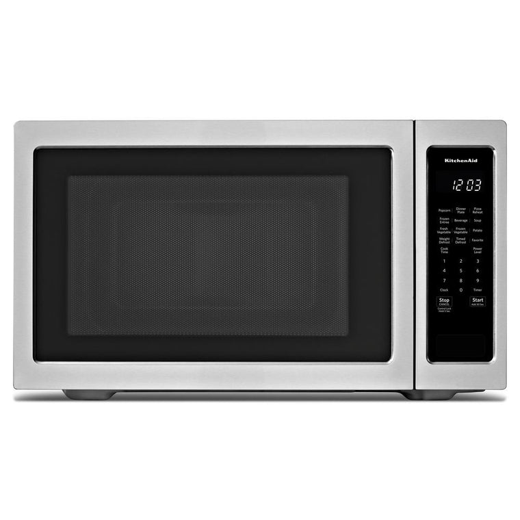 "KITCHENAID KMCS3022GSS 24"" Countertop Microwave Oven 1200 Watt"