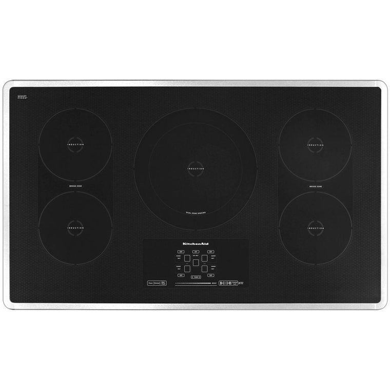 KITCHENAID KICU569XSS 36-Inch 5-Element Induction Cooktop, Architect® Series II