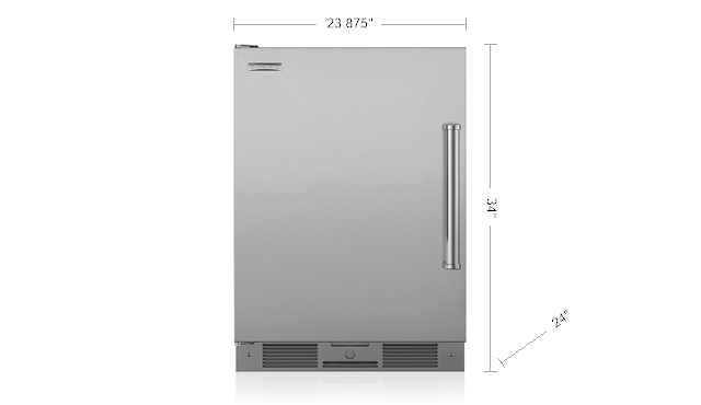Sub-Zero UC24ROPHLH 24 Inch Built-in Outdoor All-Refrigerator