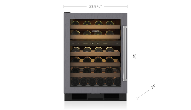 "Sub-Zero UW-24A/O/RH 24"" Under Counter Wine Storage"