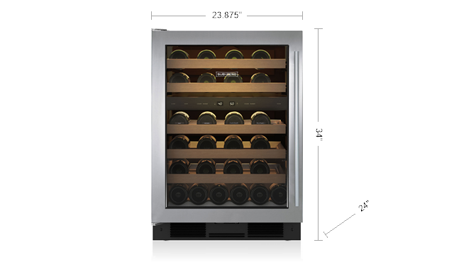"SUB-ZERO UW-24/S/TH/RH 24"" UNDERCOUNTER WINE STORAGE"