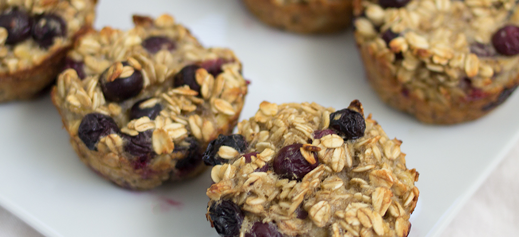Blueberry Oatmeal Breakfast Cups