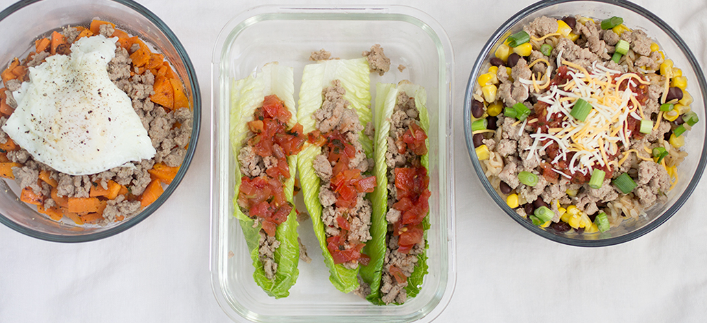 Meal Prep: Ground Turkey 3 Different Ways