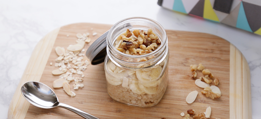 Banana Nut Oatmeal: To help you get more zzz's