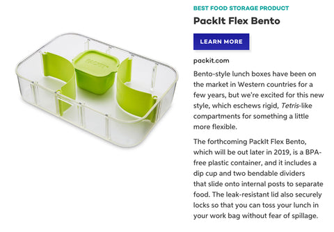 2019 Best Product PackIt Flex Bento