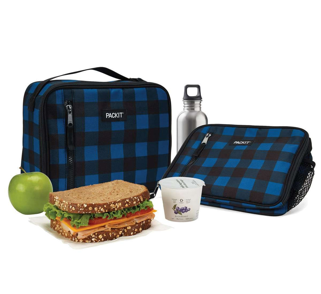 Freezable Classic Lunch Box - Navy Buffalo