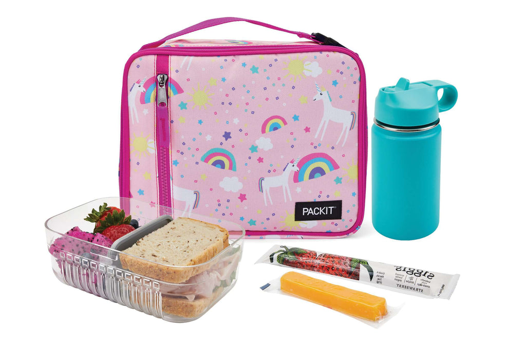 PackIt Freezable Classic Lunch Box - Unicorn Sky Pink - PackIt