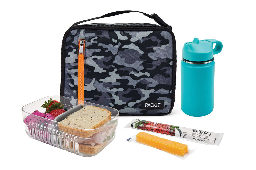 PackIt Freezable Classic Lunch Box - Charcoal Camo - PackIt