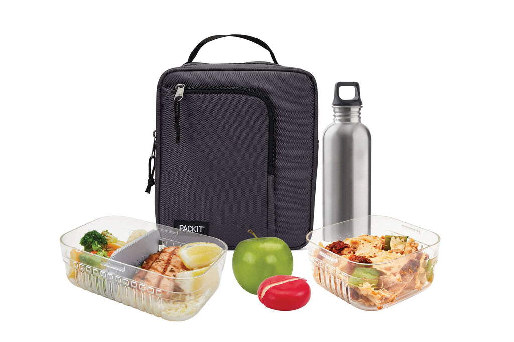 PackIt Freezable Commuter Lunch Box - Charcoal