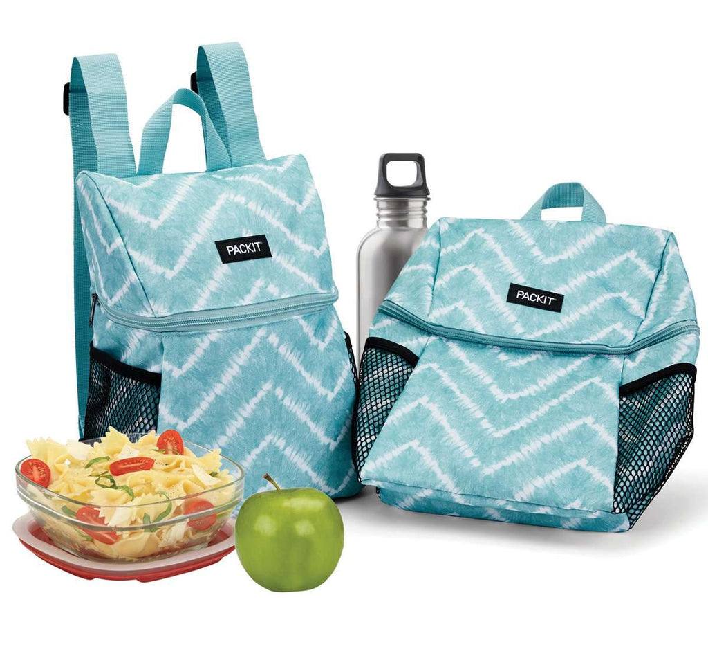PackIt Freezable Everyday Lunch Backpack - Aqua Tie Dye