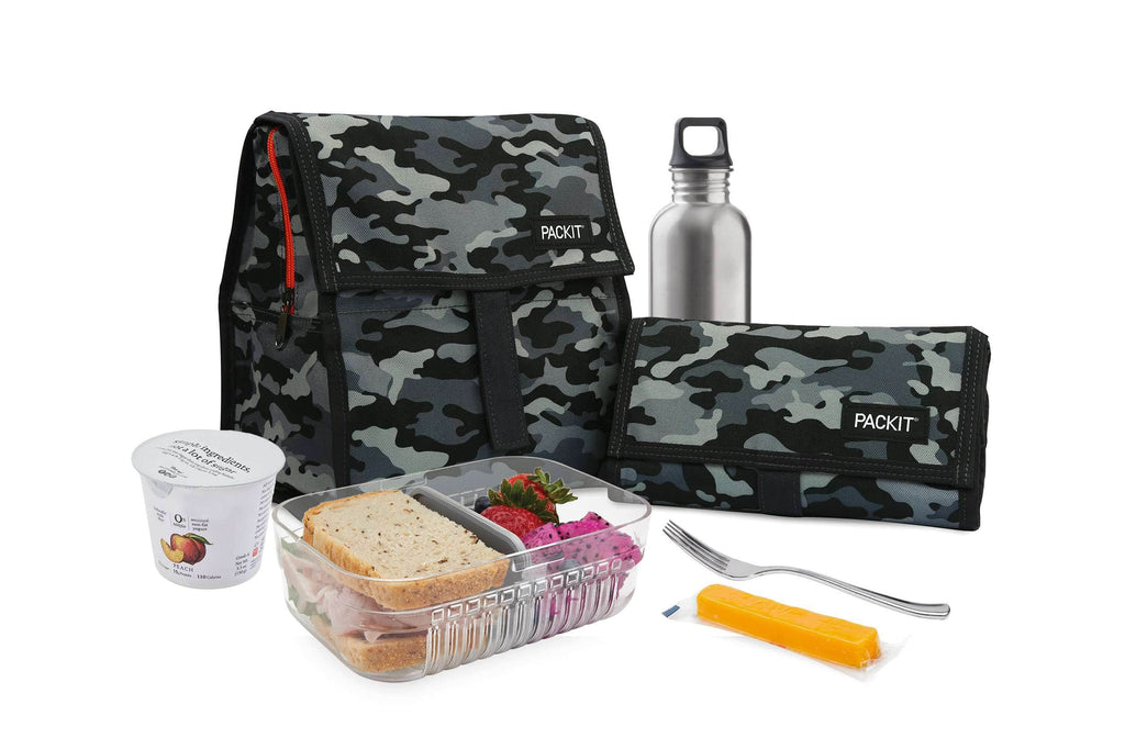 PackIt Freezable Lunch Bag - Charcoal Camo
