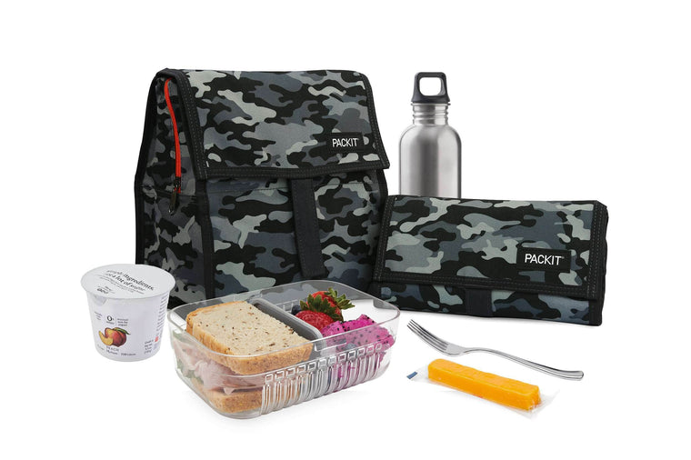 Freezable Lunch Bag - Charcoal Camo