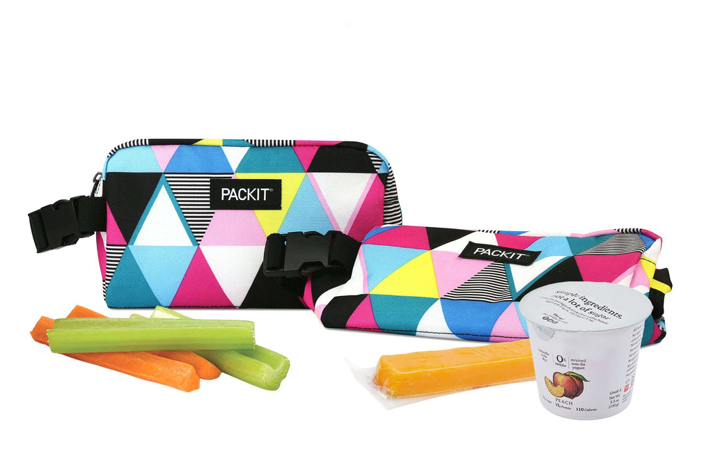 PackIt Freezable Snack Box - Triangle Stripe - PackIt