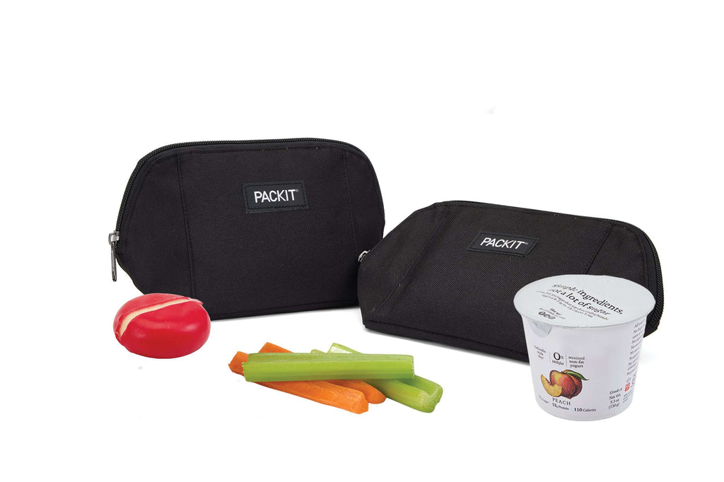 PackIt Freezable Snack Bag - Black - PackIt