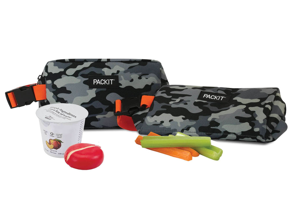 PackIt Freezable Snack Box - Charcoal Camo - PackIt