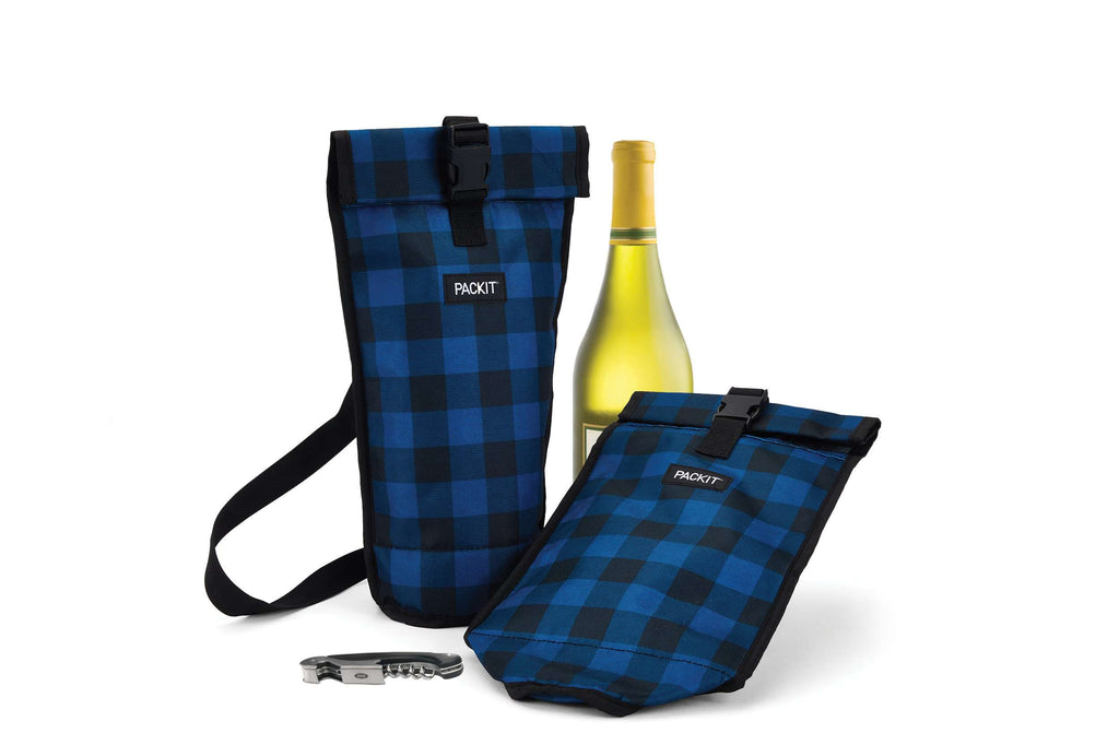 Freezable Wine Bag - Navy Buffalo