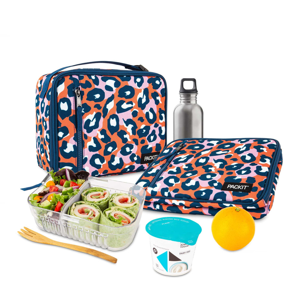 Freezable Classic Lunch Box - Wild Leopard Orange
