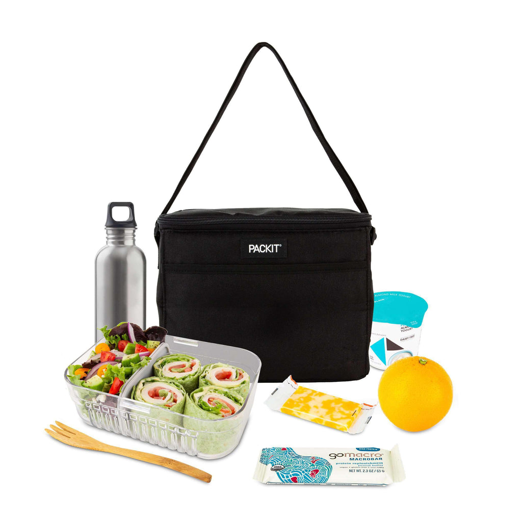 Freezable Everyday Lunch Box - Black - PackIt