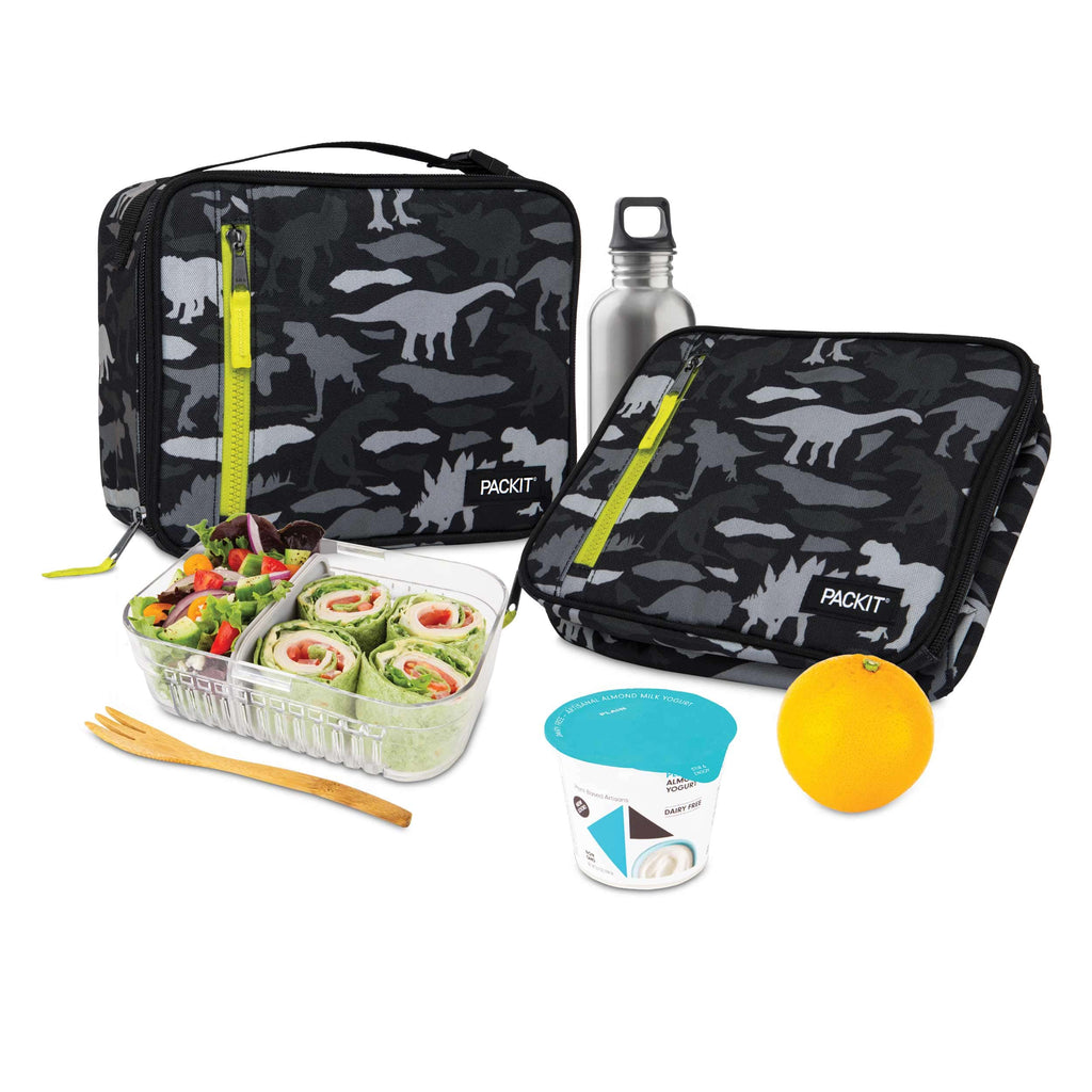 PackIt Freezable Classic Lunch Box - Dino Camo Charcoal