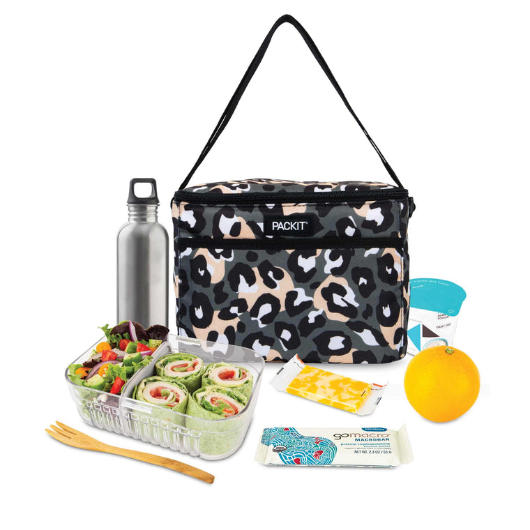 Freezable Everyday Lunch Box - Wild Leopard Gray