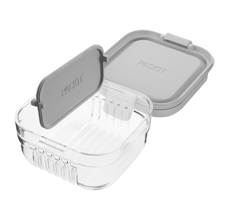 Mod Snack Bento Container™ - Steel Gray