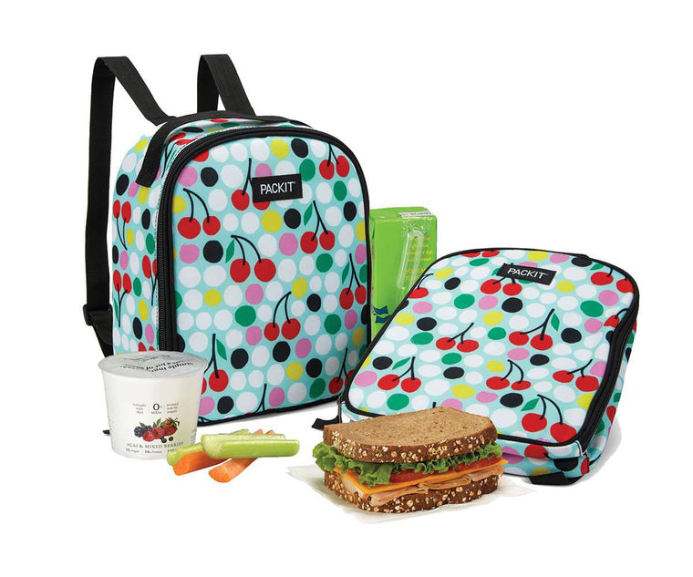 PackIt Freezable Kids Lunch Backpack - Cherry Dots