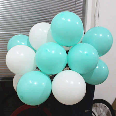 "Teal Balloons - 20pc (10"")"