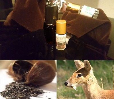 Authentic (Wild Indian Musk/Kasturi) Real Deer Musk Intense Aphrodisiac Pheromones Attar Oil 3ml!