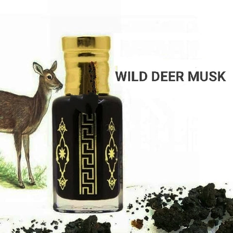 Pure Thick Musk 87% Wild Black DEER MUSK ATTAR Oil Aphrodisiac Pheromones - 12ML w/Applicator!