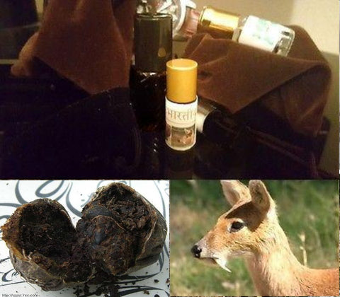 Authentic (Wild Indian Kasturi) Real Black Deer Musk Pheromones Attar Oil - 3ML+Size!