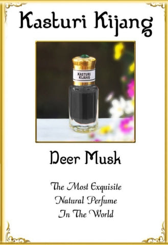 Pure Natural Black Deer Musk Kasturi Kijang Strong Intense Aroma Oil - 6ml!