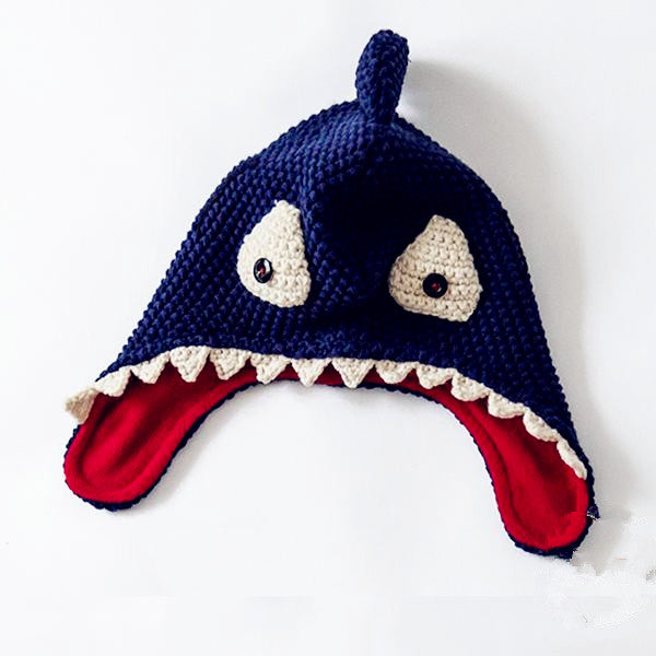 Knitted Shark Beanie