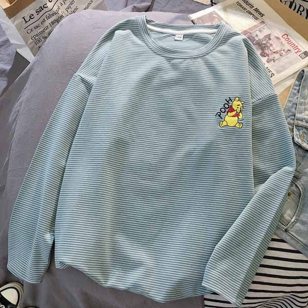 Pooh Striped Long Sleeve