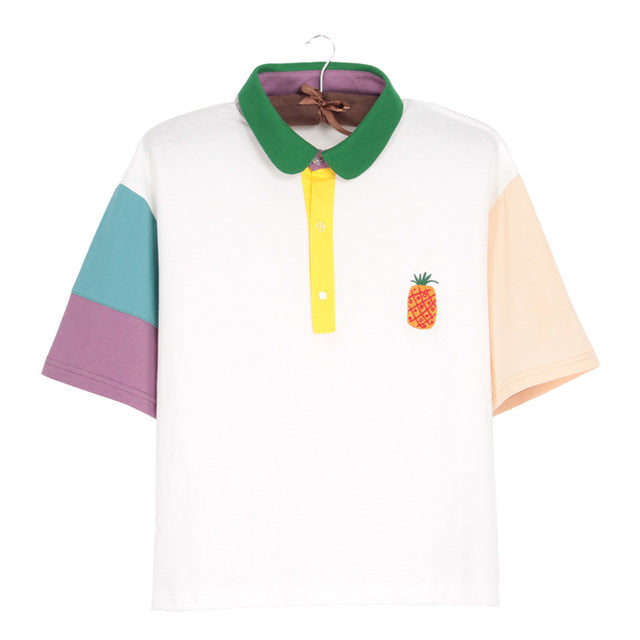 Colorblock Pastel Polo