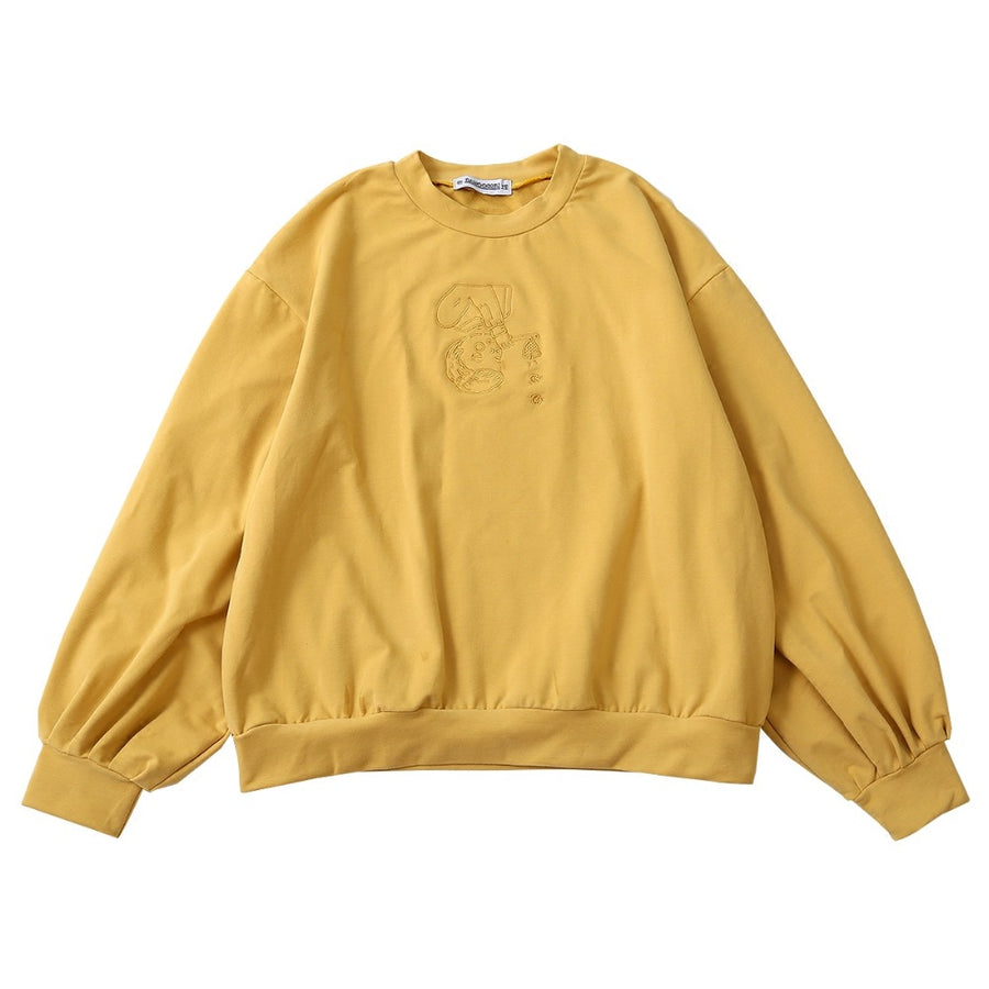 Embroidered Pastel Yellow Sweater