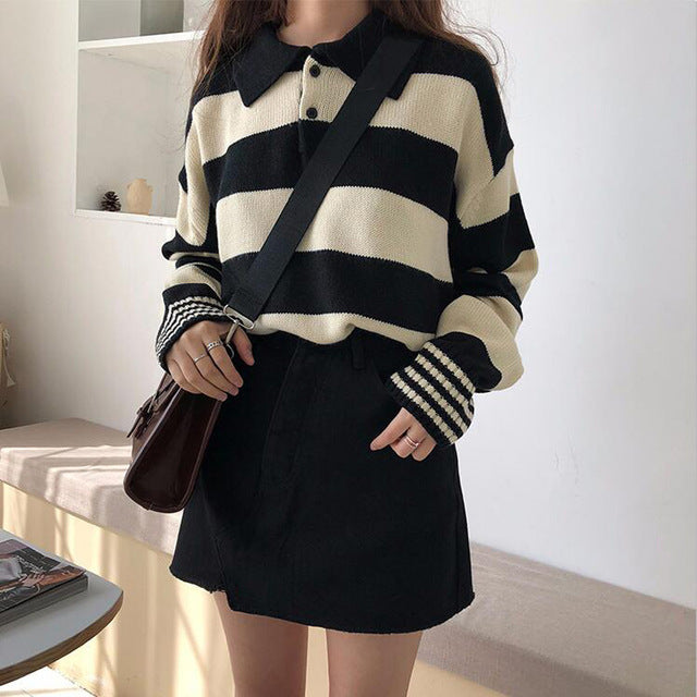 Vintage Striped Polo