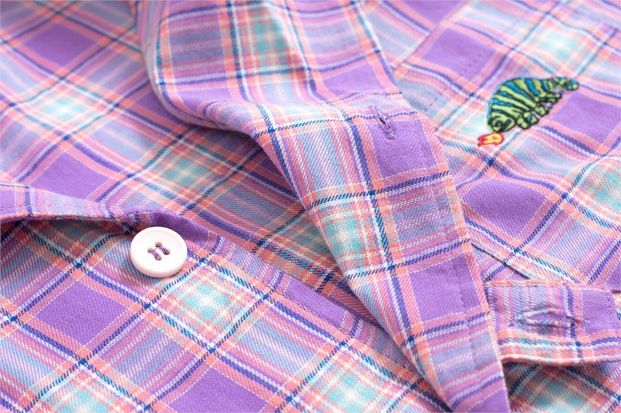 Plaid Purple Button Up