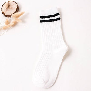 Two Stripe Neutral Socks