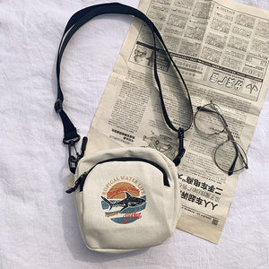 Tropical Canvas Shoulder Bag