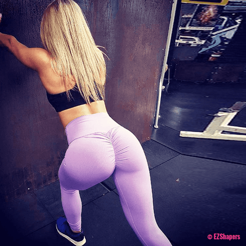 Solid Fitness Push Up Leggings