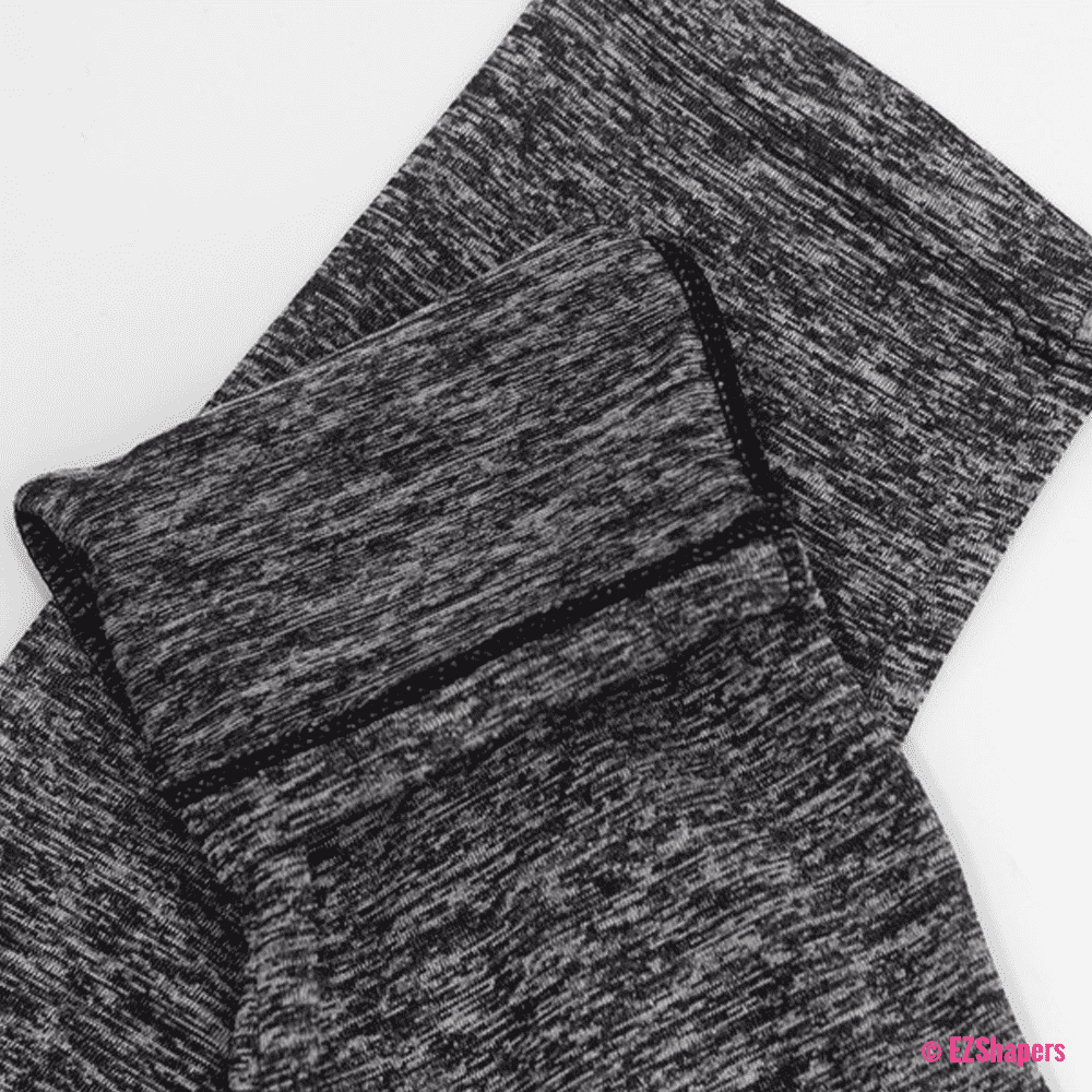 Workout Black & Gray Patchwork Leggings