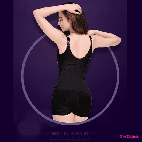 Image of Slimming Solid Shapewear with Front Zipper