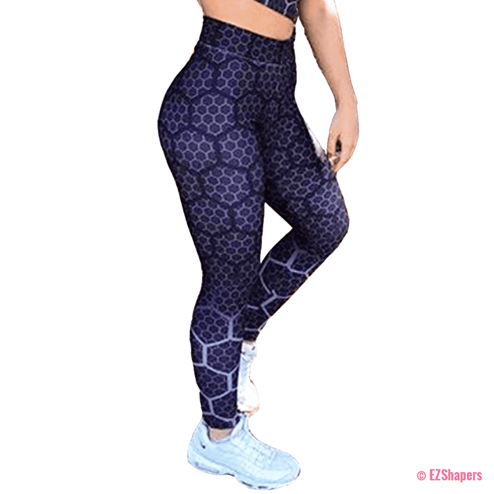 Fitness Purple Honeycomb Leggings
