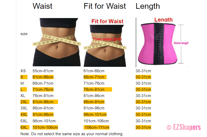 Waist Shaper With Boning Support & 3-Row Hook-and-Eye Closure