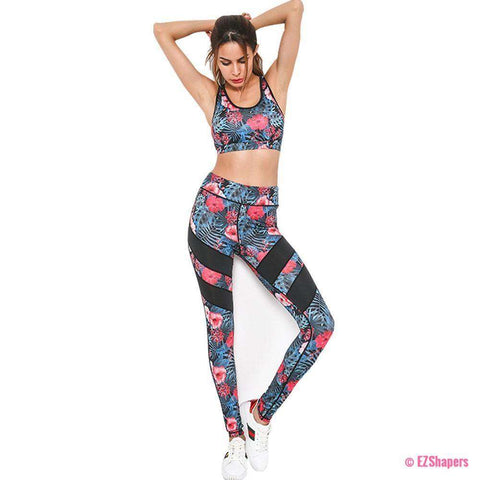 Image of Fitness Floral Tracksuit Set
